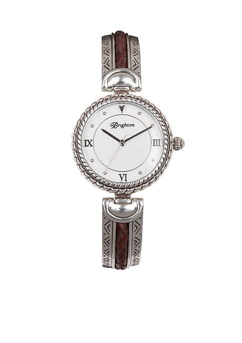 Silver-Tone Capristrano Timepiece