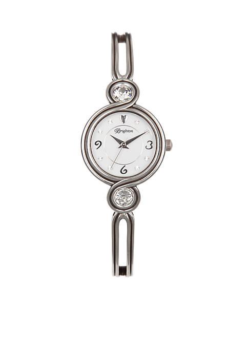 Brighton® Silver-Tone Infinity Sparkle Watch