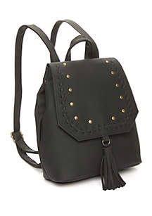 Mini Studded Backpack with Tassel