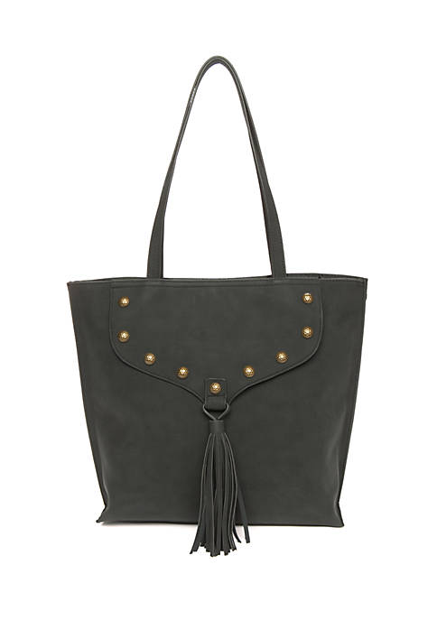 0db1e945a2 TRUE CRAFT Studded Tote with Tassel
