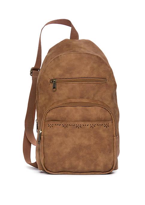 Perforated Mini Backpack