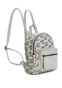 TRUE CRAFT Mini Dome Floral Backpack