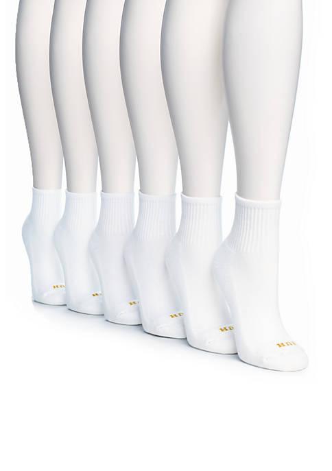 HUE® 6 Pack Mini Crew Socks