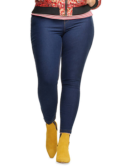 HUE® Plus Size Essential Denim Legging