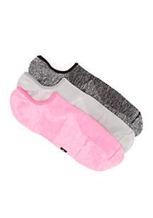 Air Sleek Liner Socks with Cushion - 3 Pair