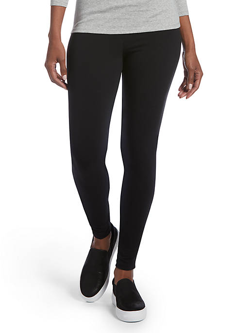 HUE® Criss Cross Cotton Leggings