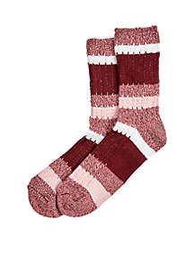Super Soft Ribbed Stripe Boot Socks