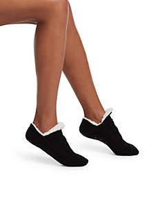 Cable Sweater Slipper Socks