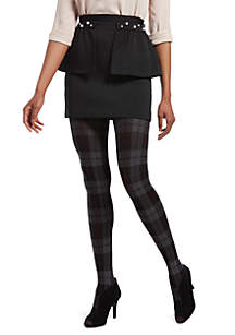 Plaid Tights with Control Top