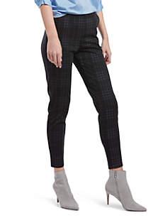 Seamed Printed Ponte Skimmer Pants