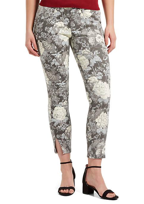 Floral Twill Skimmer Leggings