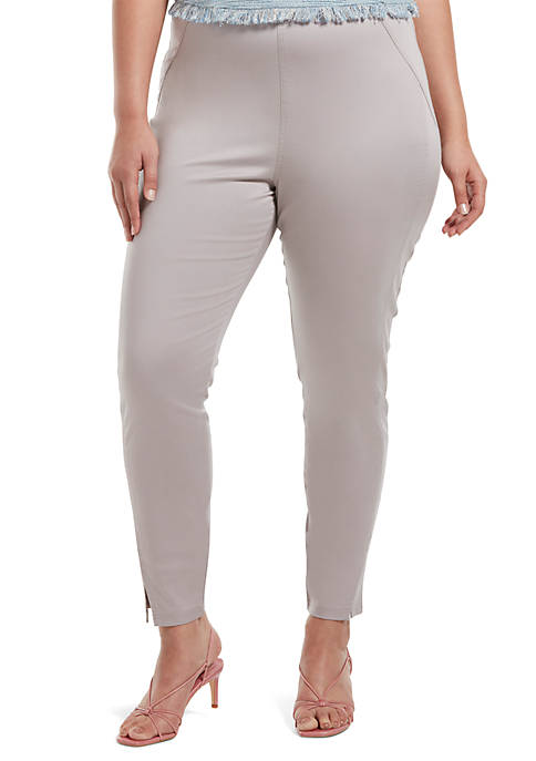 HUE® Plus Size Sateen High Waist Skimmer Leggings