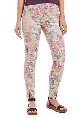 64f0b82f5d760c HUE® Watercolor Rose Sateen High Waist Skimmer Leggings ...