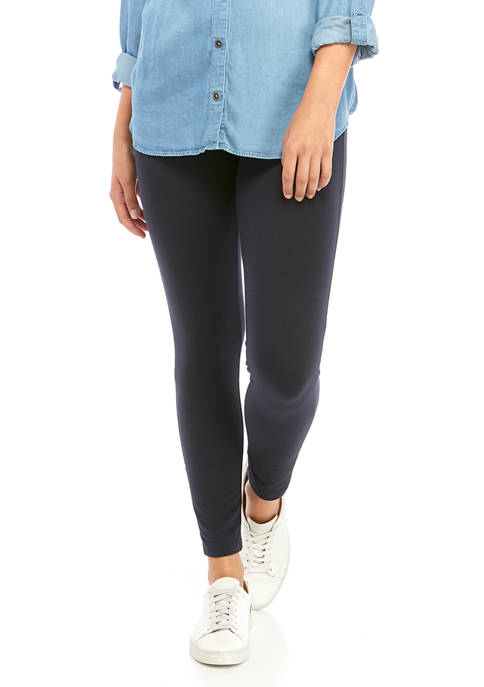 HUE® Wide Waistband Blackout Cotton Leggings