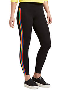 HUE® Rainbow Tux Cotton Leggings