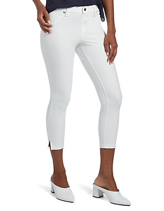 676daba55b3753 HUE® Ankle Slit Essential Denim Capri Leggings | belk
