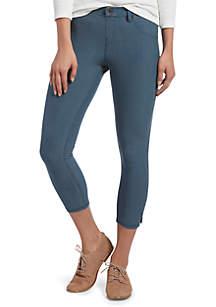 ac04ccab001 ... HUE® Ankle Slit Essential Denim Capri Leggings