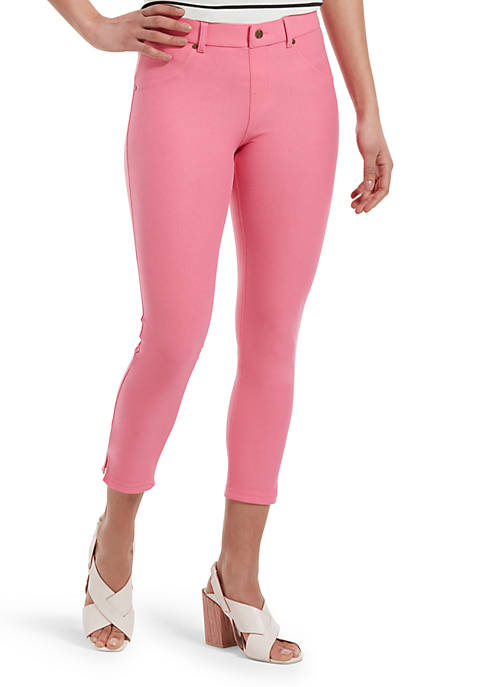 HUE® Ankle Slit Essential Denim Capri Leggings