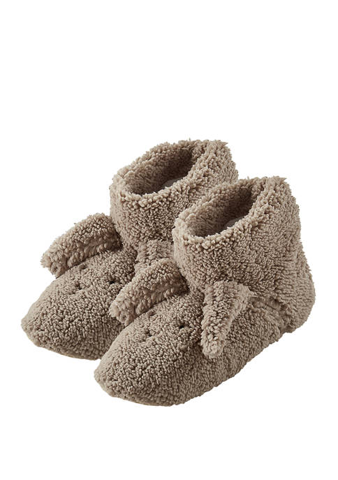 HUE® Critter Plush Booties