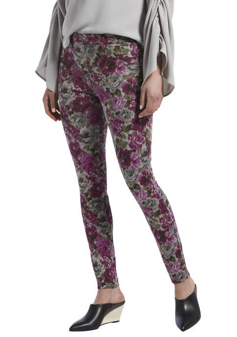 HUE® Womens Autumn Floral High Waist Denim Leggings