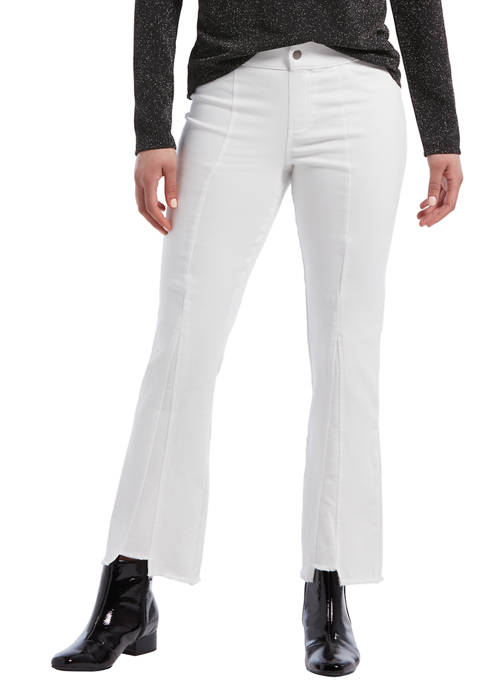 Ultra Soft Denim Cropped Flare Pants