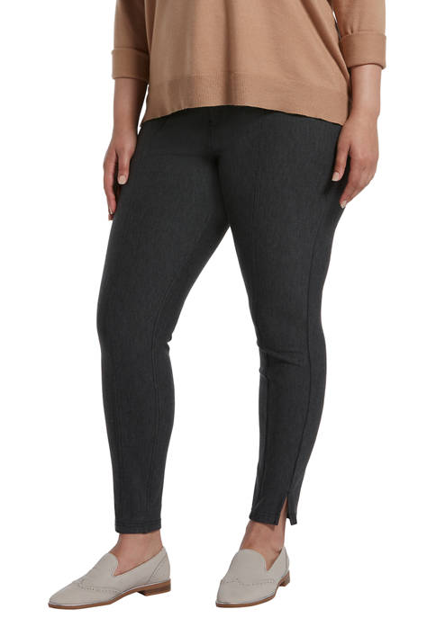 HUE® Pintucked Tweed 7/8 Leggings