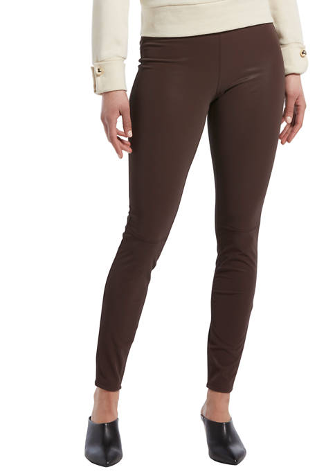 HUE® Womens Textured Faux Leather Leggings