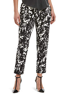 HUE® Floral Print Loafer Skimmer Leggings