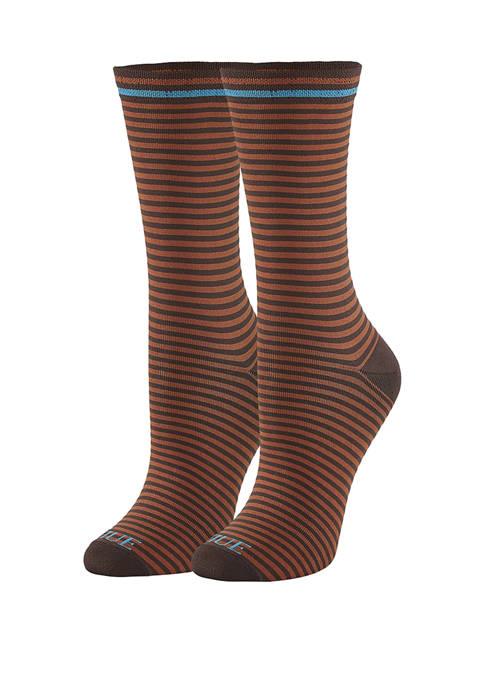 HUE® Cushioned Crew Socks