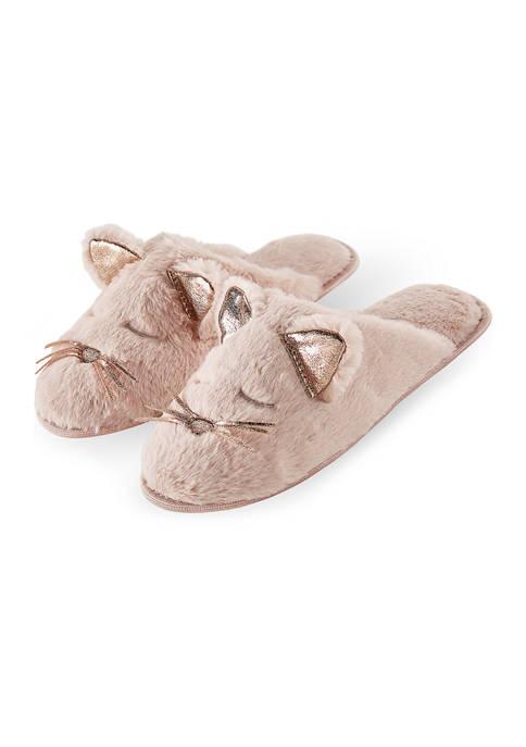 Animal Plush Slide Slippers