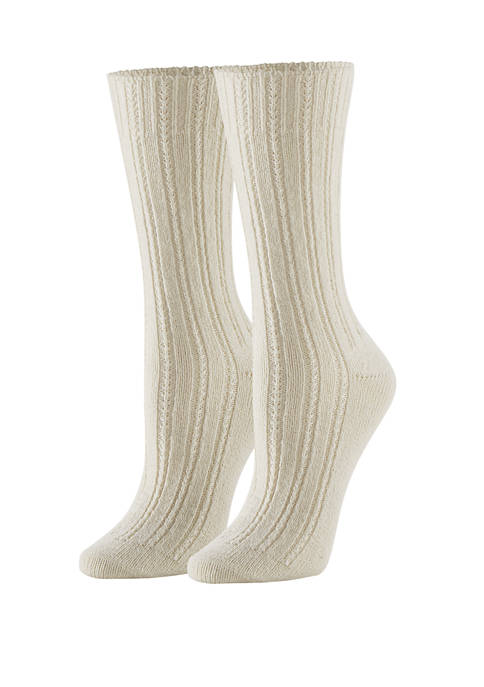 Temp Tech™ Tuck Stitch Ribbed Socks