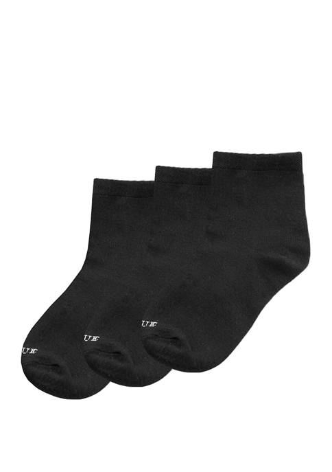 Womens 3 Pack Super Soft Cropped Socks