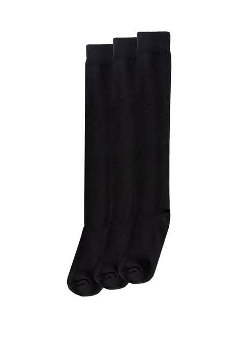 HUE® Womens Flat Knit Knee Socks