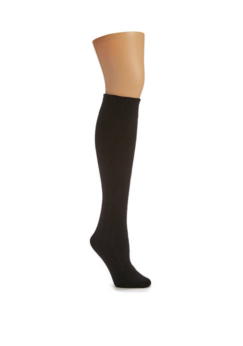 HUE® Diamond Texture Knee High Socks
