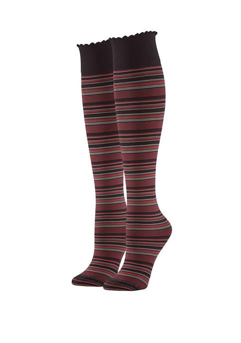 Womens Graduated Compression Opaque Knee High Socks