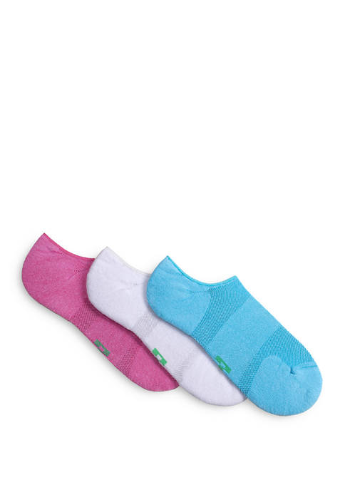 Set of 3 Eco Sport Cushion No Show Socks