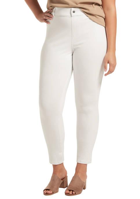 Printed Cuff Ultra Soft Denim High Waist Leggings