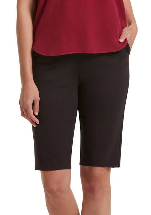 HUE® Womens Work Ponte High Waist Long Shorts