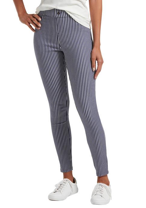 HUE® Womens Striped Ultra Soft Denim High Waist