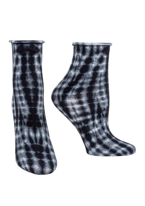 Printed Tie Dye Crew Socks