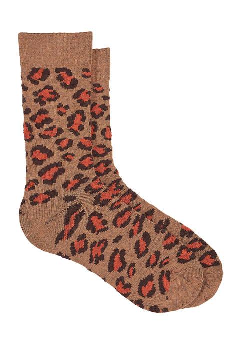 Leopard Boot Socks
