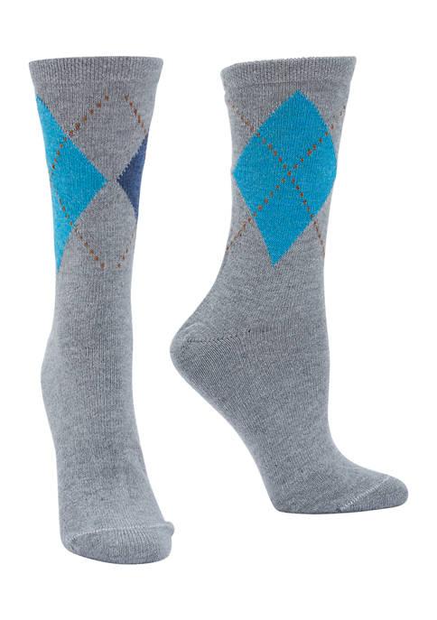 Set of 2 Argyle Boot Socks
