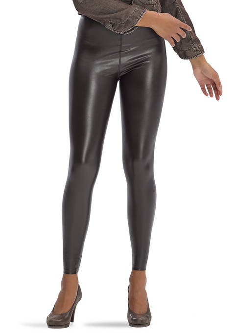 Leatherette High Rise Leggings