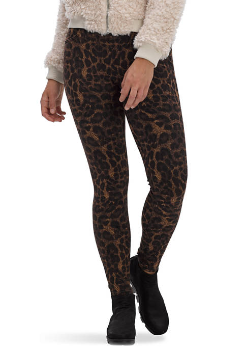 HUE® Womens Animal Printed Denim High Rise Leggings