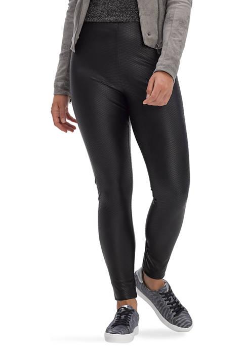 HUE® Croco Leatherette High Rise Leggings