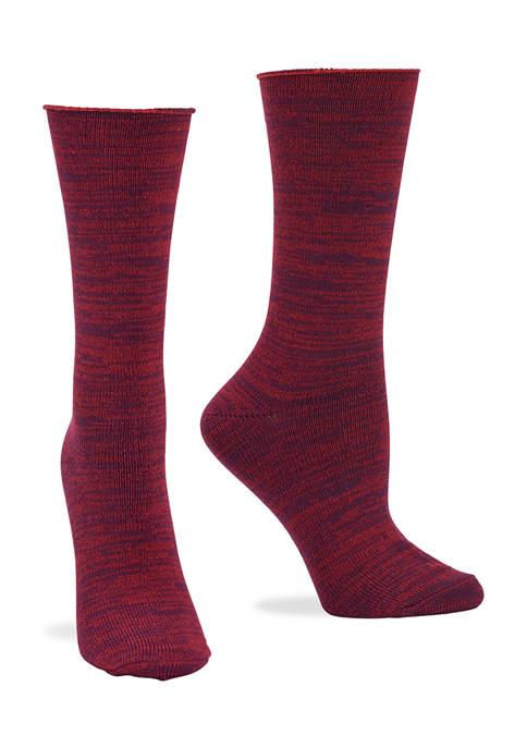 HUE® Super Soft Roll Top Boot Socks- 2