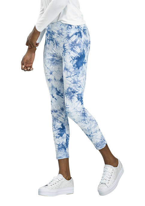 Womens Active Tonal Tie Dye Skimmer Leggings