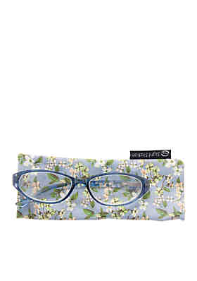 43ac9852bcb2 CMC by Corinne McCormack Annabelle Blue Reader Glasses with Case ...