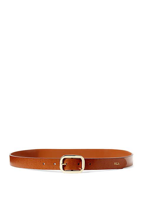 Lauren Ralph Lauren Newbury Saffiano Leather Belt
