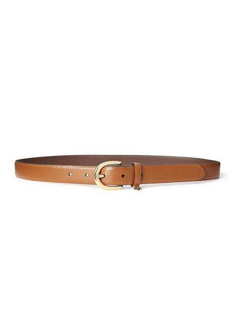 Lauren Ralph Lauren Charm Saffiano Leather Belt